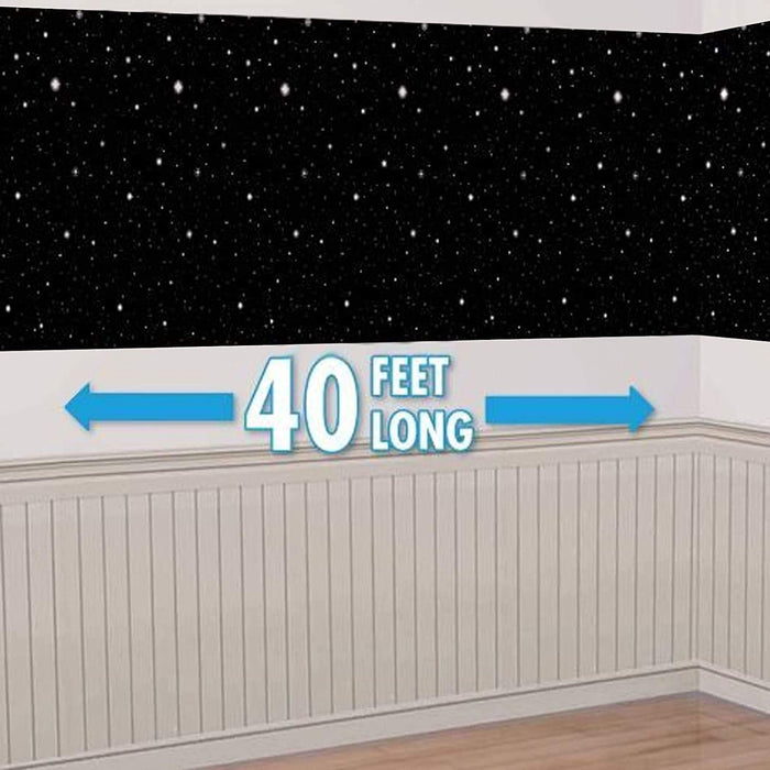 Hollywood Starry Nights Scene Setter Room Roll, 1.22m x 12.2m