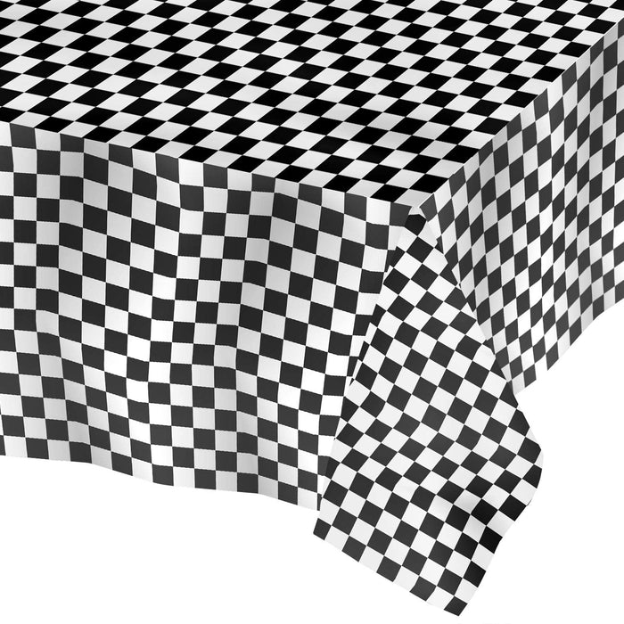 Racing Stripes Plastic Tablecover (54inch x 108inch)