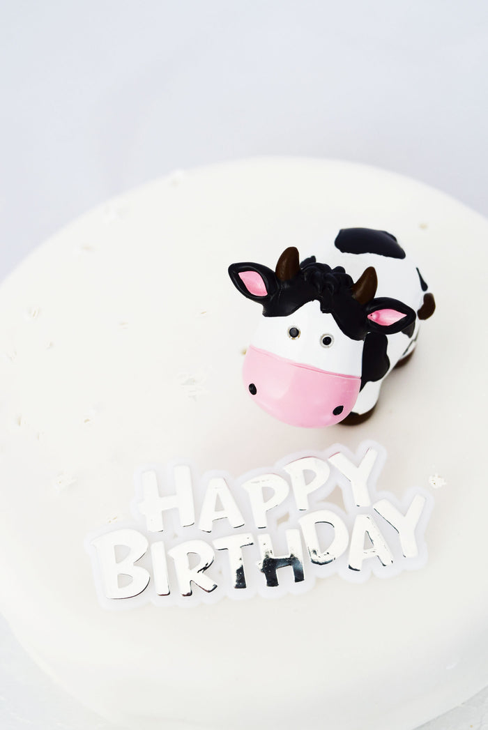 Farm Animal Cow Resin Topper