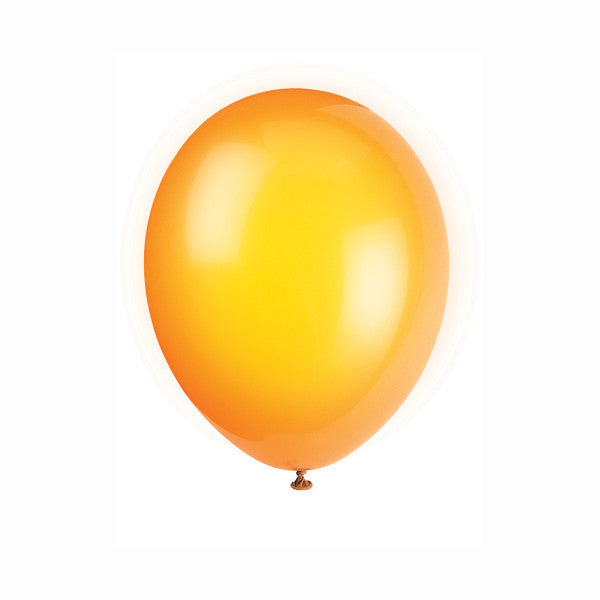 "12"" Latex Balloons, 50ct - Citrus Orange"
