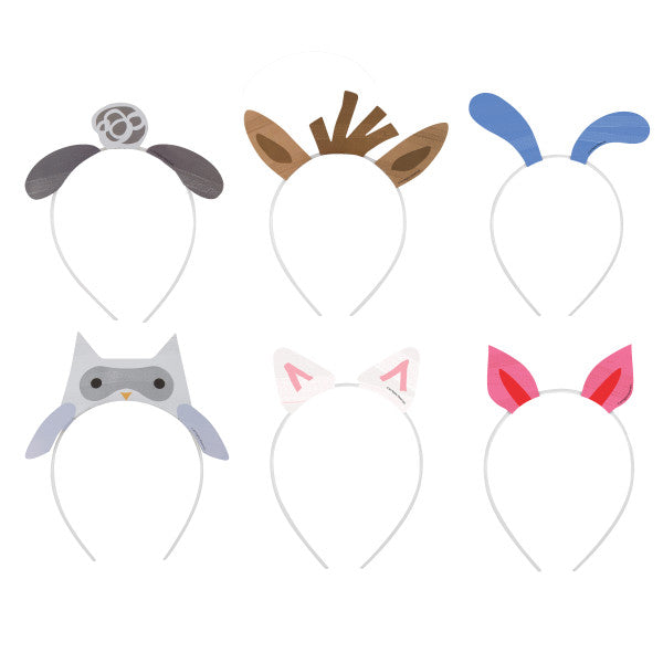 Farm Party Headbands, 6ct - Assorted