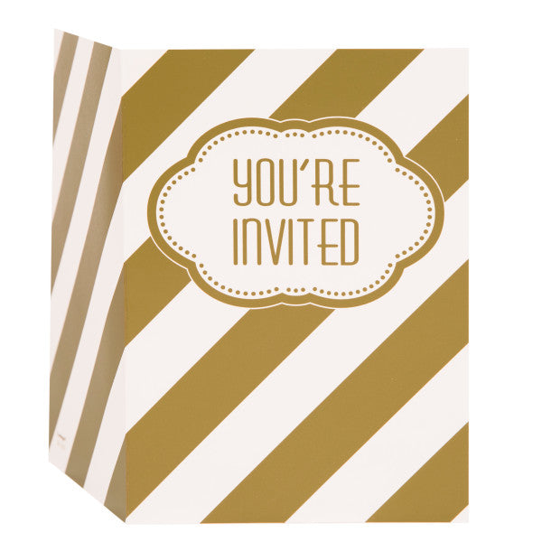 Golden Birthday Invitations, 8ct