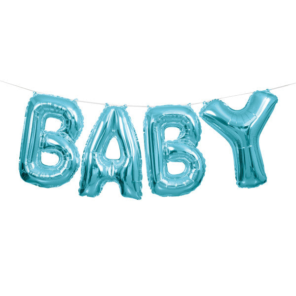 Blue Baby Foil Letter Balloon Banner Kit, 14""