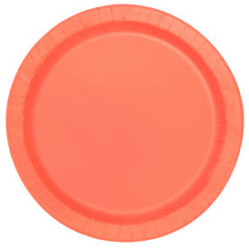 "Coral Solid Round 9"" Dinner Plates, 16ct"