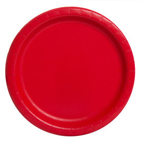 "Ruby Red Solid Round 7"" Dessert Plates, 8ct"