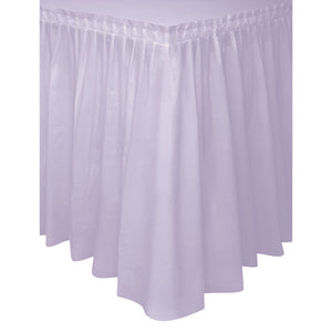"Lavender Solid Plastic Table Skirt, 29""x14ft"