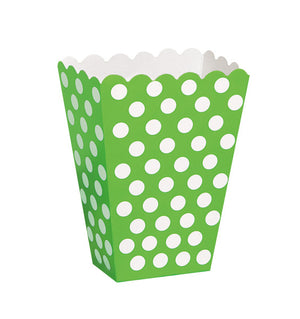 Lime Green Dots Treat Boxes, 8ct