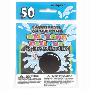 Cannonball Shaped Water Bomb Balloons, 50ct