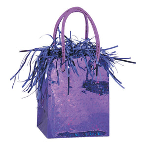 Mini Gift Bag Balloon Weight - Deep Purple