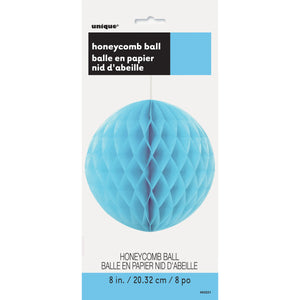 "Powder Blue Solid 8"" Honeycomb Ball"