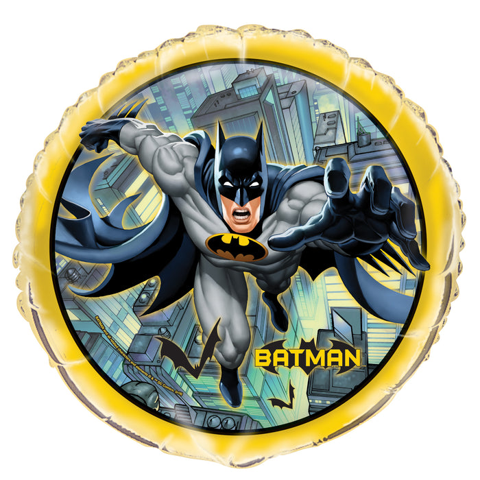 "Batman Round Foil Balloon 18"", Packaged"