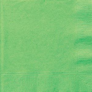 Lime Green Solid Beverage Napkins, 20ct