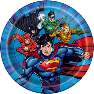 "Justice League Round 7"" Dessert Plates, 8ct"