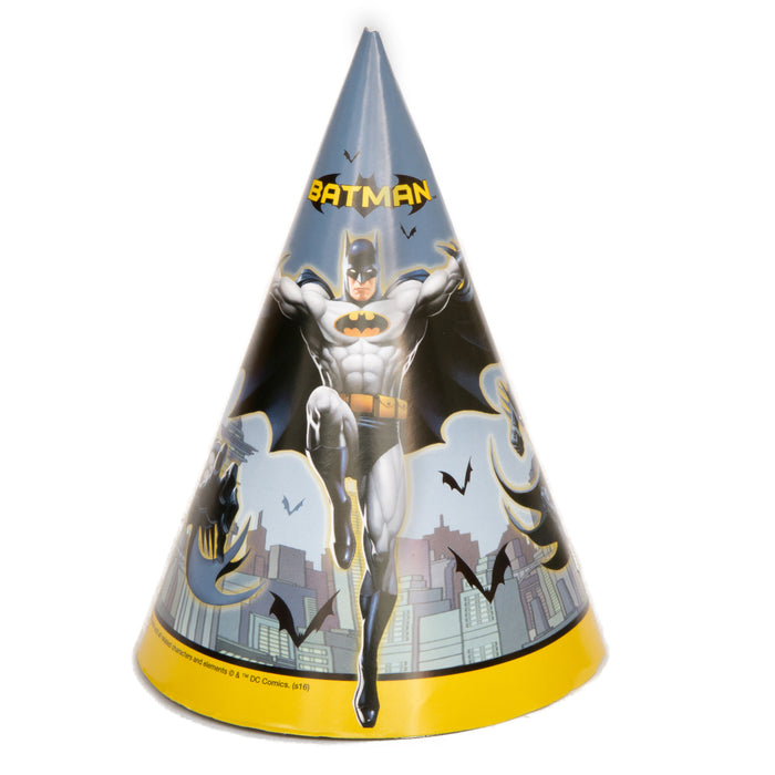 Batman Party Hats, 8ct