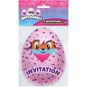 Hatchimals Invitations, 8ct