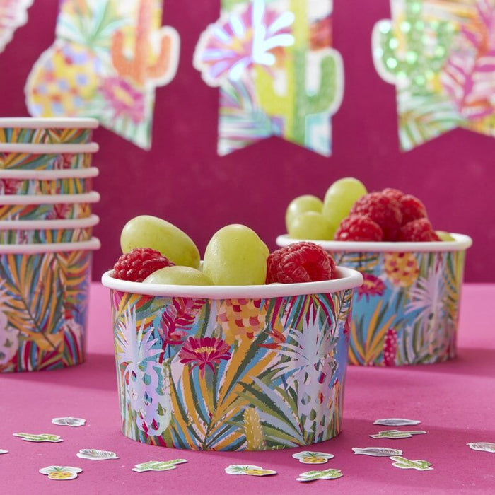 Ginger Ray Iridescent Pineapple Treat Ice Cream Tubs - Hot Summer