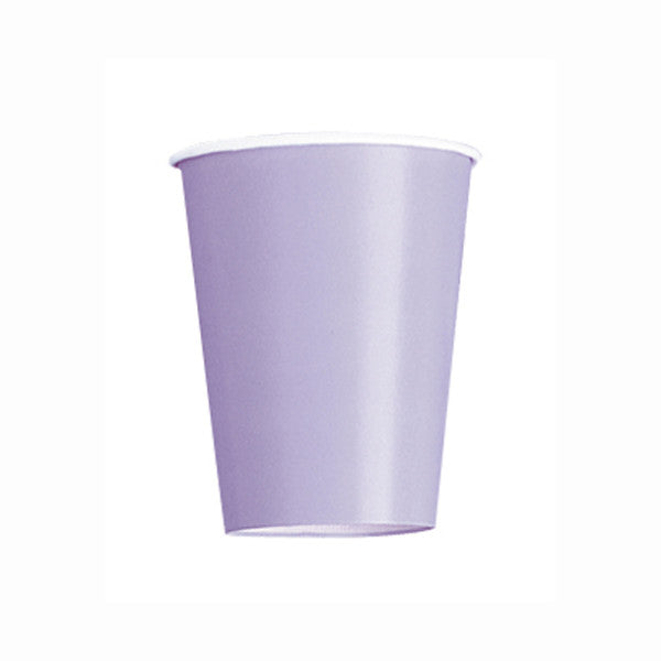 Lavender Solid 9oz Paper Cups, 14ct