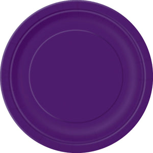 "Deep Purple Solid Round 9"" Dinner Plates, 16ct"