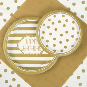 "Golden Birthday Round 9"" Dinner Plates, 8ct"