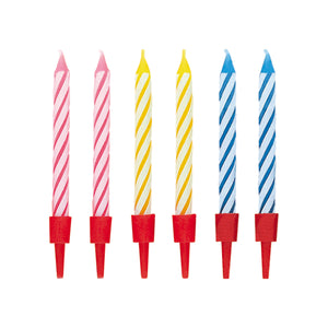 Birthday Candles in Holders, 20ct