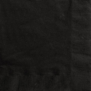 Midnight Black Solid Luncheon Napkins, 20ct