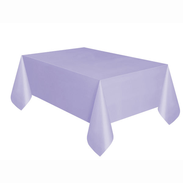 "Lavender Solid Rectangular Plastic Table Cover, 54""x108"""