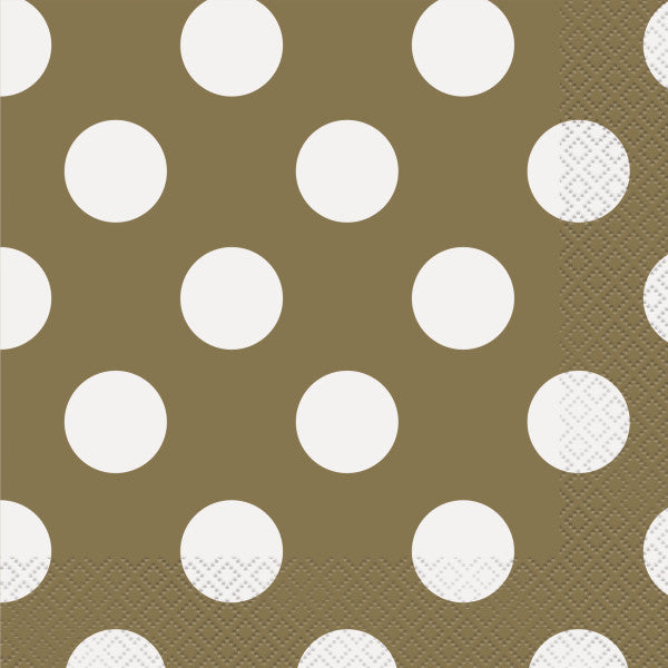 Gold Dots Luncheon Napkins, 16ct