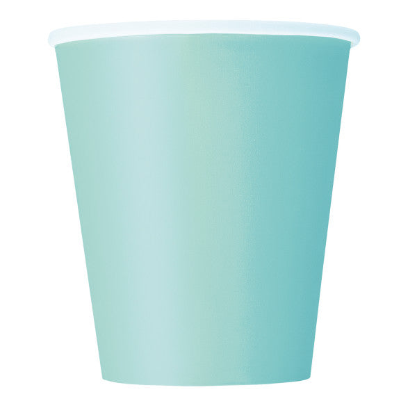 Mint Solid 9oz Paper Cups, 14ct
