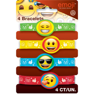 Emoji Stretchy Bracelets, 4ct