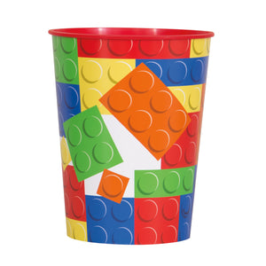Building Blocks Birthday 16oz Plastic Stadium Cup