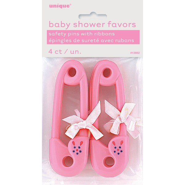 Pink Baby Pin Favors, 4ct