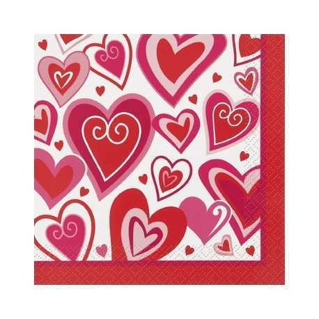 Radiant Hearts Lunch Napkins - 16ct