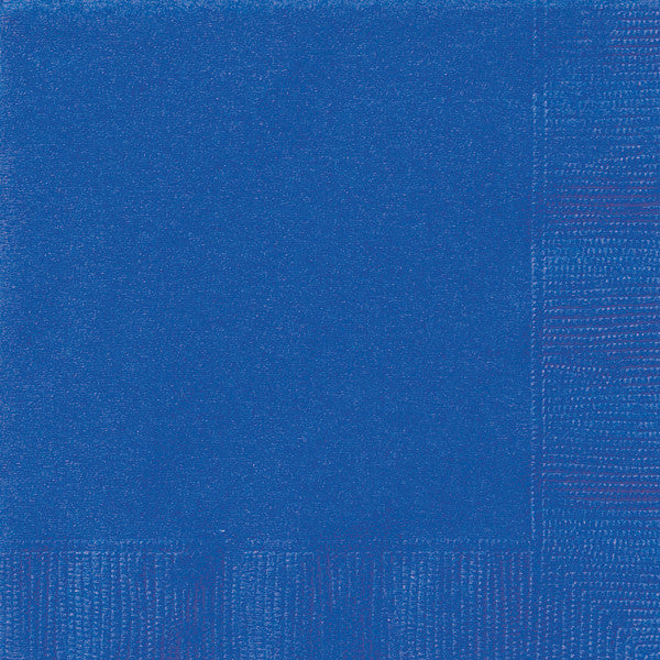 Royal Blue Solid Beverage Napkins, 20ct