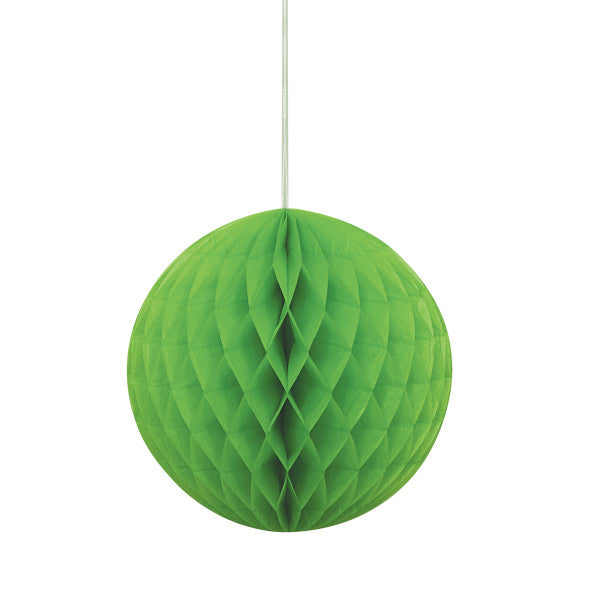 "Lime Green Solid 8"" Honeycomb Ball"