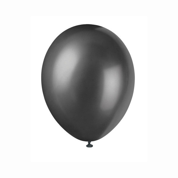 "12"" Latex Balloons, 50ct - Ink Black"
