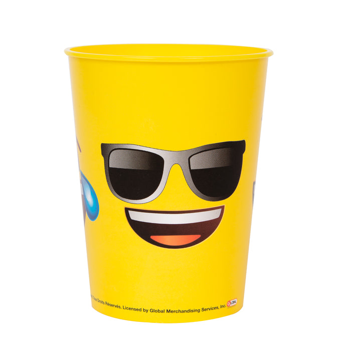 Emoji Faces 16oz Plastic Stadium Cup