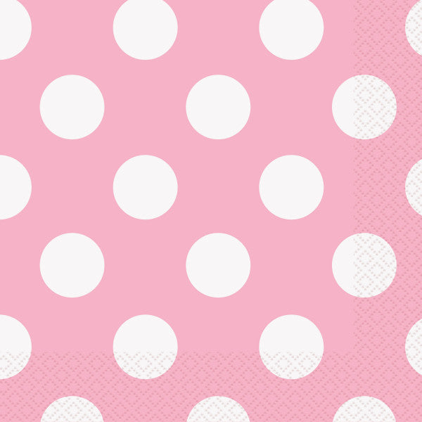 Lovely Pink Dots Luncheon Napkins, 16ct