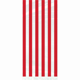 Ruby Red Stripe Cellophane Bags, 20ct
