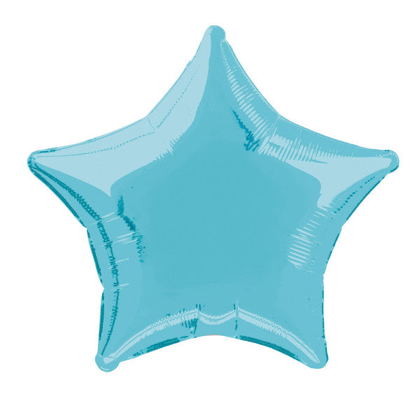 "Solid Star Foil Balloon 20"", Packaged - Baby Blue"