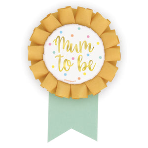 "Foil ""Mum to Be"" Baby Shower Badge - Foil Stamped"