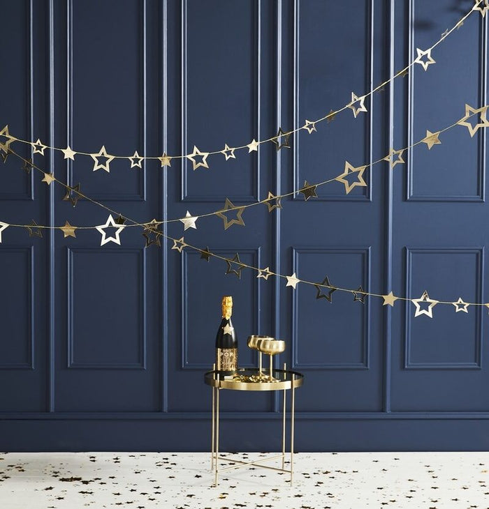 Ginger Ray Gold Foiled Star Garland