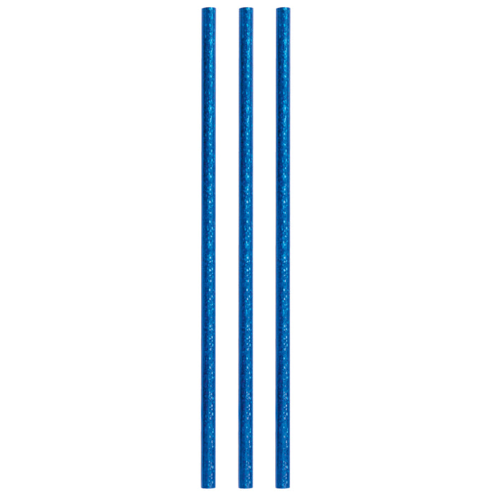 Birthday Blue Glitz Paper Straws, 10ct