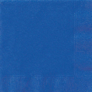 Royal Blue Solid Luncheon Napkins, 20ct