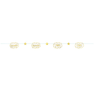 Twinkle Twinkle Little Star Paper Garland, 7 ft