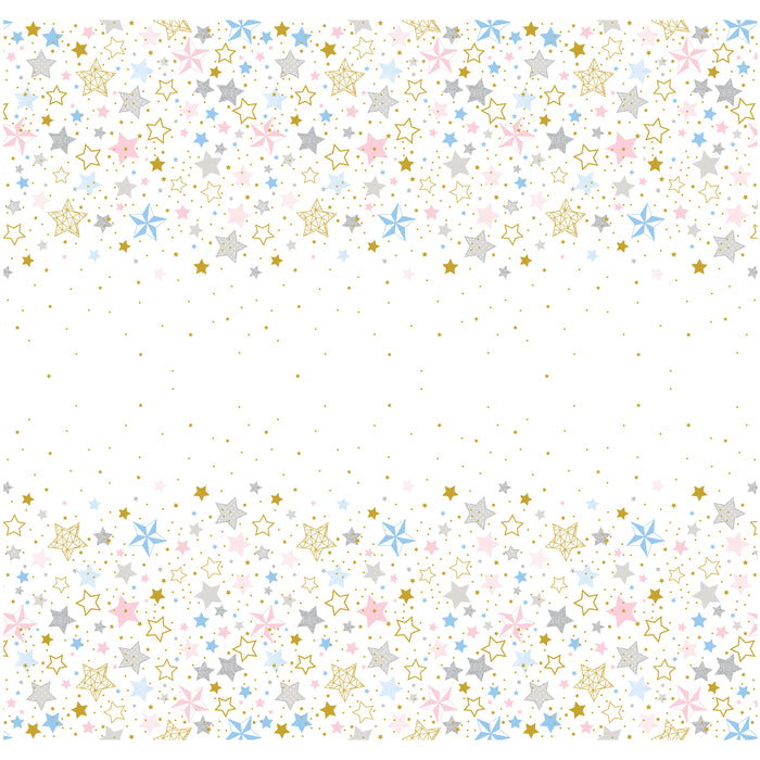 "Twinkle Twinkle Little Star Rectangular Plastic Table Cover, 54""x84"""