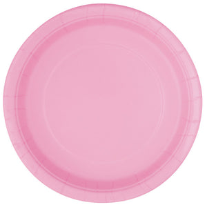 "Lovely Pink Solid Round 9"" Dinner Plates, 16ct"