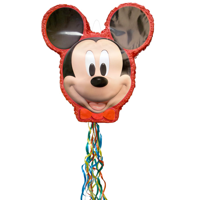 Disney Mickey Mouse Shaped Drum Pull Pinata