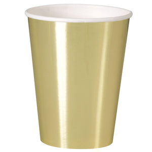 Gold Foil 12oz Paper Cups, 8ct - Foil Board