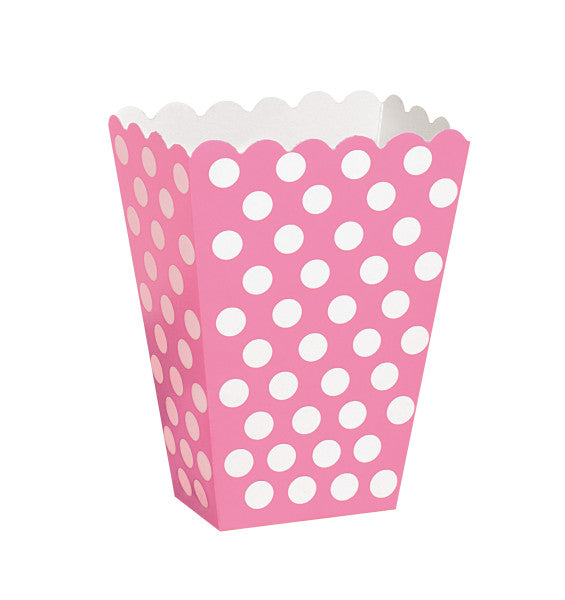 Hot Pink Dots Treat Boxes, 8ct