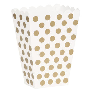 Gold Dots Treat Boxes, 8ct